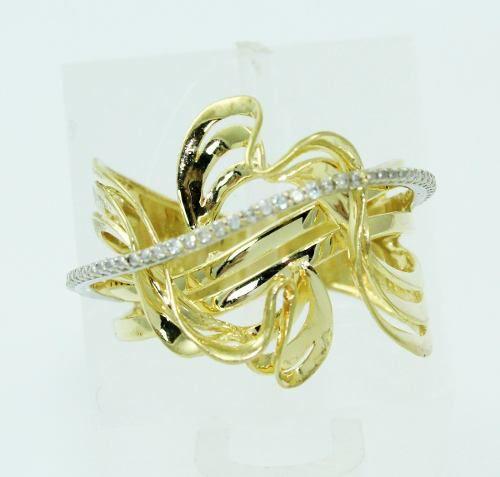 Anel De Ouro 18k750 Diamantes 2284
