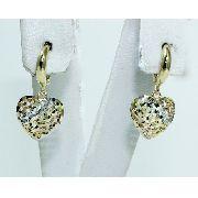 Brincos De Ouro 18k750 Coração B601