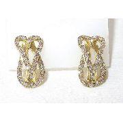 Brincos De Ouro 18k750 Diamantes B467