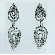 Brincos Ouro Branco 18k750 Diamantes Vivara B633