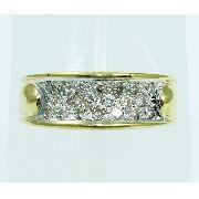 Anel De Ouro 18k750 Diamantes 2008