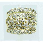 Anel De Ouro 18k750 Diamantes 1979