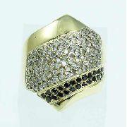 Anel De Ouro 18k750 Diamantes 1955