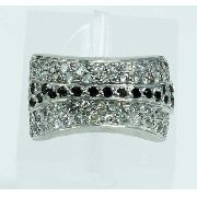 Anel De Ouro Branco 18k750 Diamantes 1929