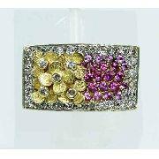 Anel De Ouro 18k750 Diamantes Rubis Vancox 1924