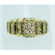 Anel De Ouro 18k750 Diamantes 1916