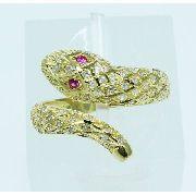 Anel De Ouro 18k750 Diamantes Cobra 1915