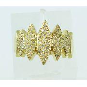 Anel De Ouro 18k750 Diamantes 2253