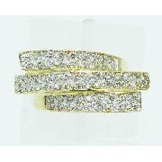 Anel De Ouro 18k750 Diamantes 2191 Frete grátis