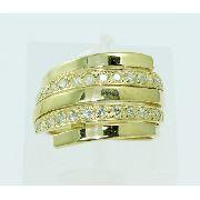 Anel De Ouro 18k750 Diamantes 2265