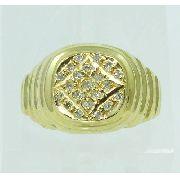Anel De Ouro 18k750 Diamantes 2187