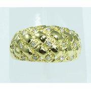 Anel De Ouro 18k750 Diamantes 1840