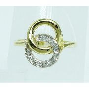 Anel De Ouro 18k750 Diamantes 1839