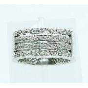 Anel De Ouro Branco 18k750 Diamantes Vivara 1806