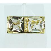 Anel De Ouro 18k750 Diamantes Quartzo 2179