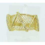 Anel De Ouro 18k750 Diamantes 2294