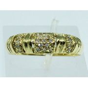 Anel De Ouro 18k750 Diamantes 1612