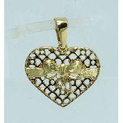Pingente De Ouro 18k750 Coração P489