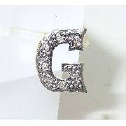 Pingente De Ouro 18k750 Letra G Diamantes P307
