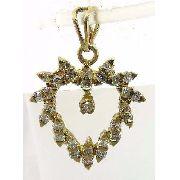 Pingente De Ouro 18k750 Coração Diamante P183