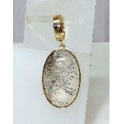 Pingente Ouro 18k750 Cristal Rutilado Negro P101