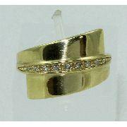Anel De Ouro 18k750 Diamantes 1458