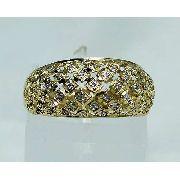 Anel De Ouro 18k750 Diamantes 1440