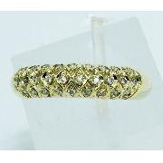 Anel De Ouro 18k750 Diamantes 1390