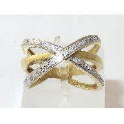Anel De Ouro 18k750 Diamantes 1347