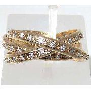 Anel De Ouro 18k750 Diamantes 1191