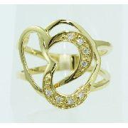 Anel De Ouro 18k750 Diamantes 2444