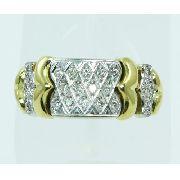 Anel De Ouro 18k750 Diamantes 2447