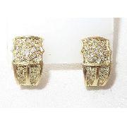 Brincos De Ouro 18k750 Diamantes B482