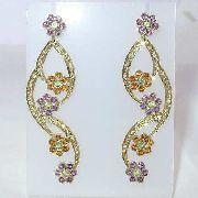Brincos De Ouro 18k750 Diamantes B453
