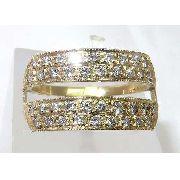 Anel De Ouro 18k750 Diamantes 924