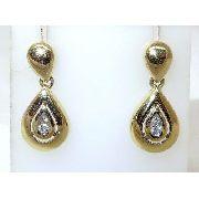 Brincos De Ouro 18k750 Diamantes B394