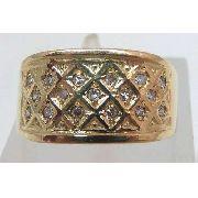 Anel De Ouro 18k750 Diamantes 639