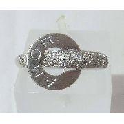 Anel De Ouro Branco 18k750 Pave Diamantes 362