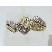 Anel De Ouro 18k 750 Diamantes 515