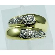 Anel De Ouro 18k750 Diamantes 642