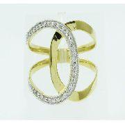 Anel De Ouro 18k750 Diamantes 2482