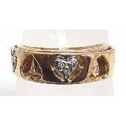 Anel De Ouro 18k750 Diamantes 535