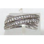 Anel De Ouro Branco 18k750 Diamantes 783