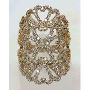 Anel De Ouro 18k750 Diamantes 773