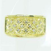 Anel De Ouro 18k750 Diamantes 2494