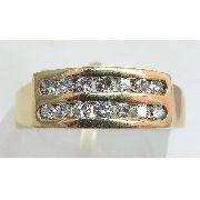 Anel De Ouro 18k750 Diamantes 726