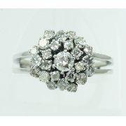 Anel De Ouro Branco 18k750 Diamantes 2210