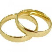 Par De Alianças Ouro18k Casamento Noivado Nc24