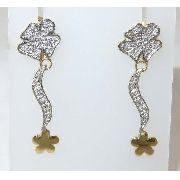 Brincos De Ouro 18k750 Diamantes B257