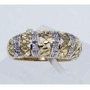 Anel Ouro 18k750 Diamantes 237